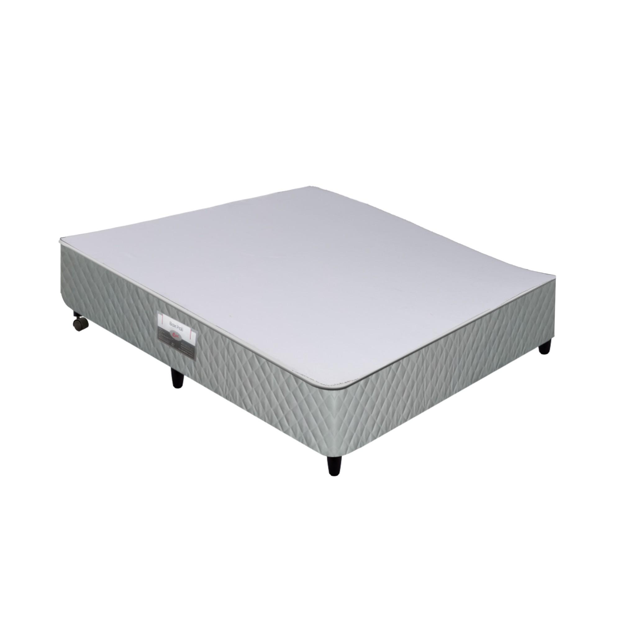 Box Castor Poli Cinza 27 cm [Solteirão 096 x 203 cm]
