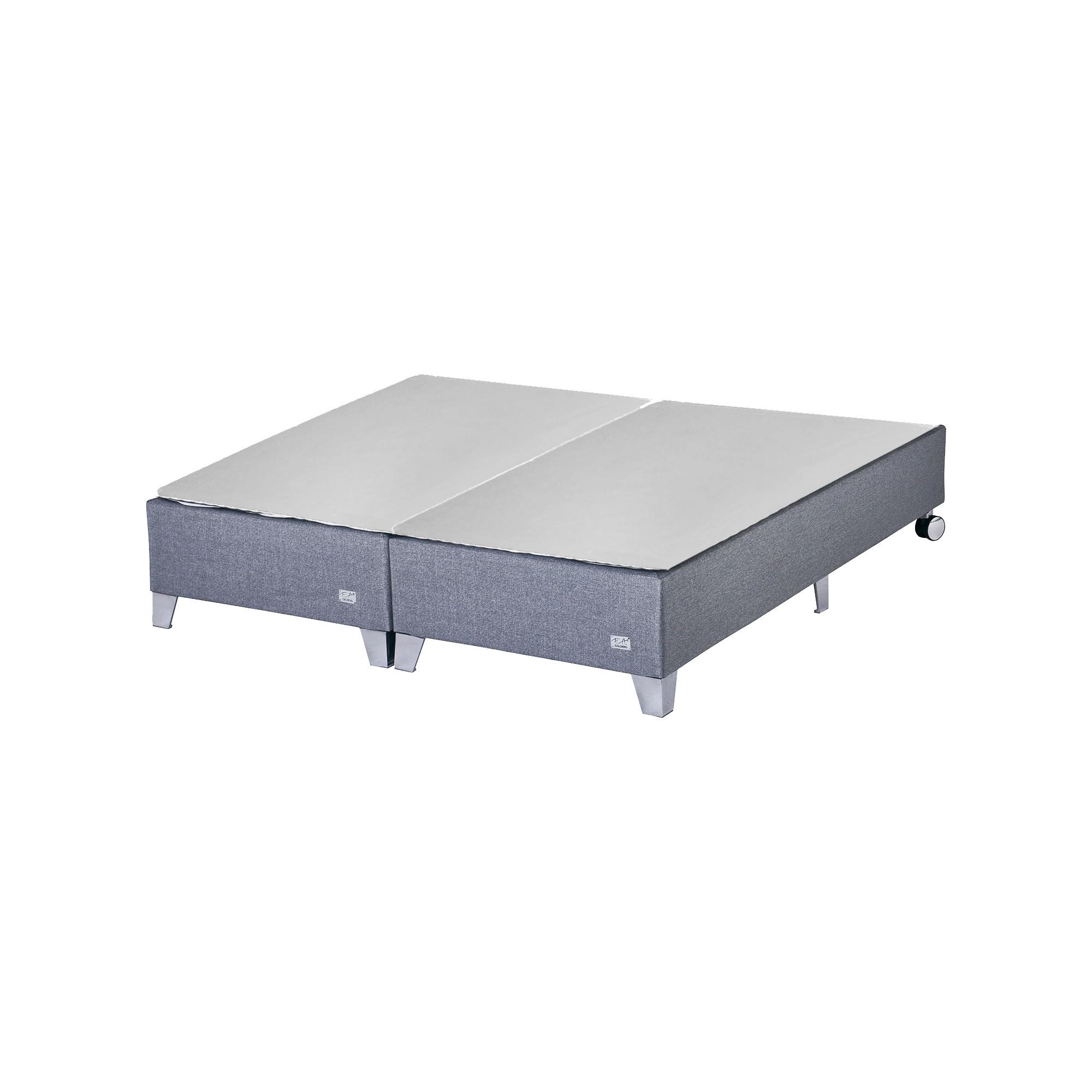 Box F.A. Colchões Premium Cinza 25 cm [Solteirão 097 x 203 cm]