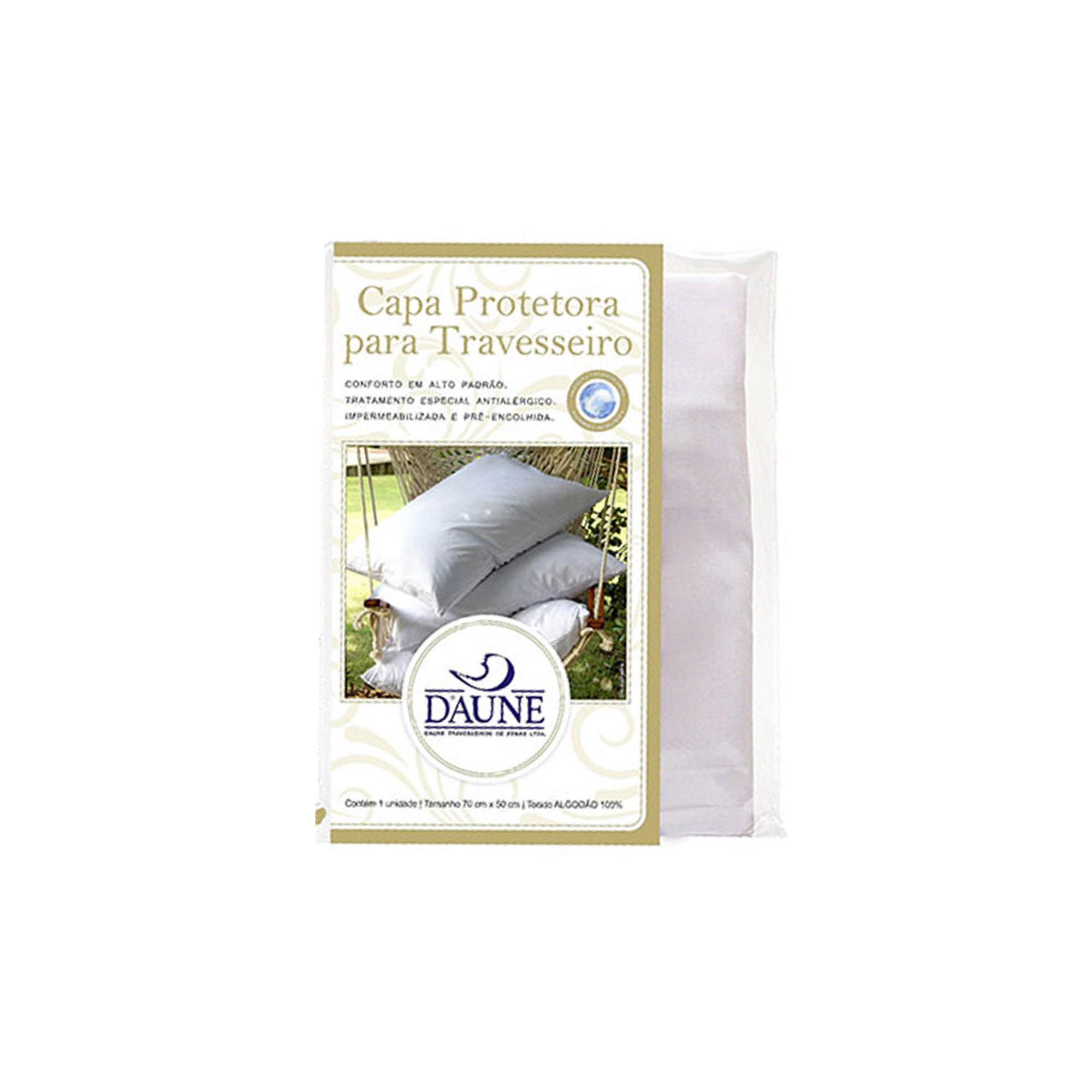 Capa Protetora 100% Algodão para Travesseiro, Daune, 050 x 070 cm
