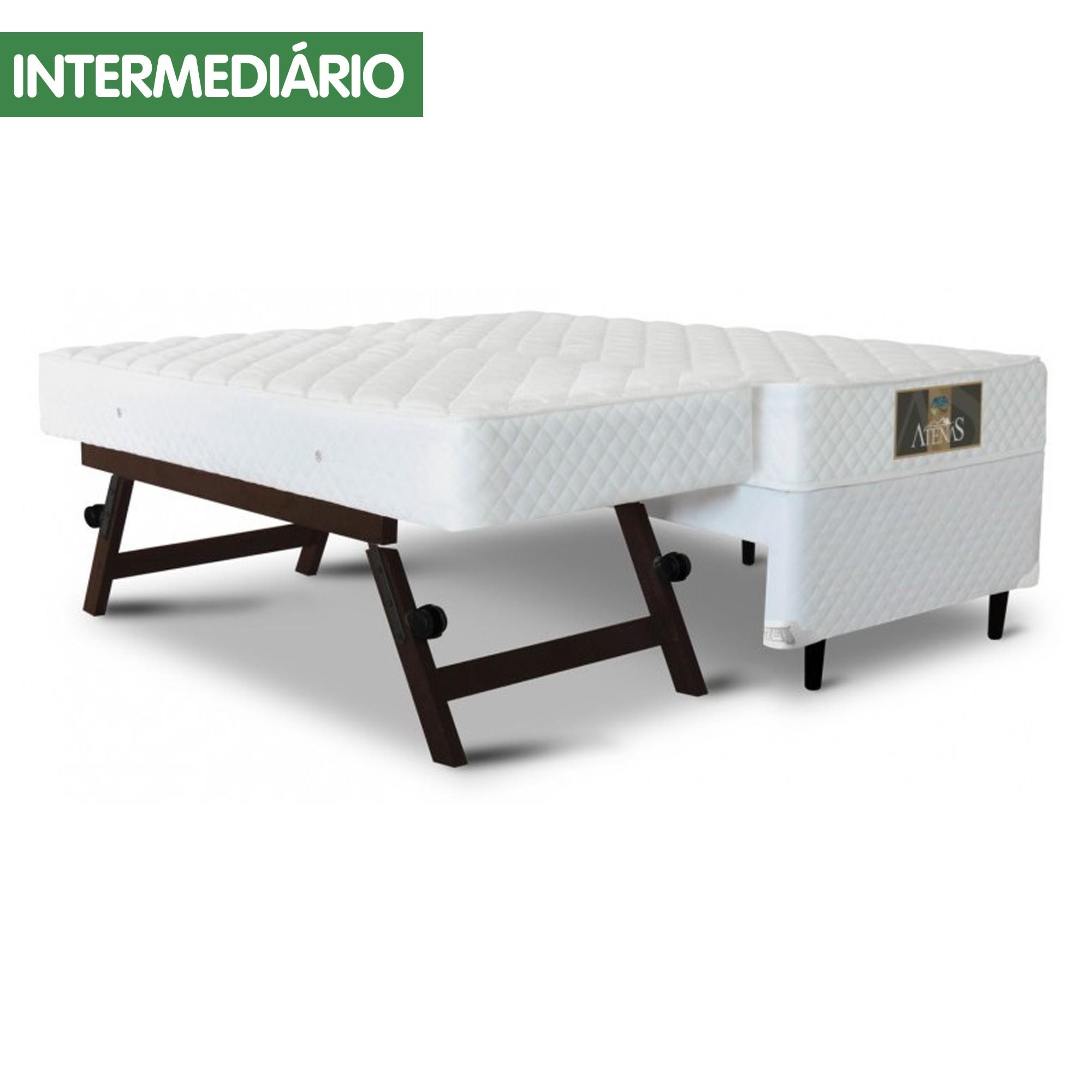 Conjunto Box Bicama Molejo Versátil com Colchão Atenas, MGA, Branca, Solteiro 078 x 188 cm
