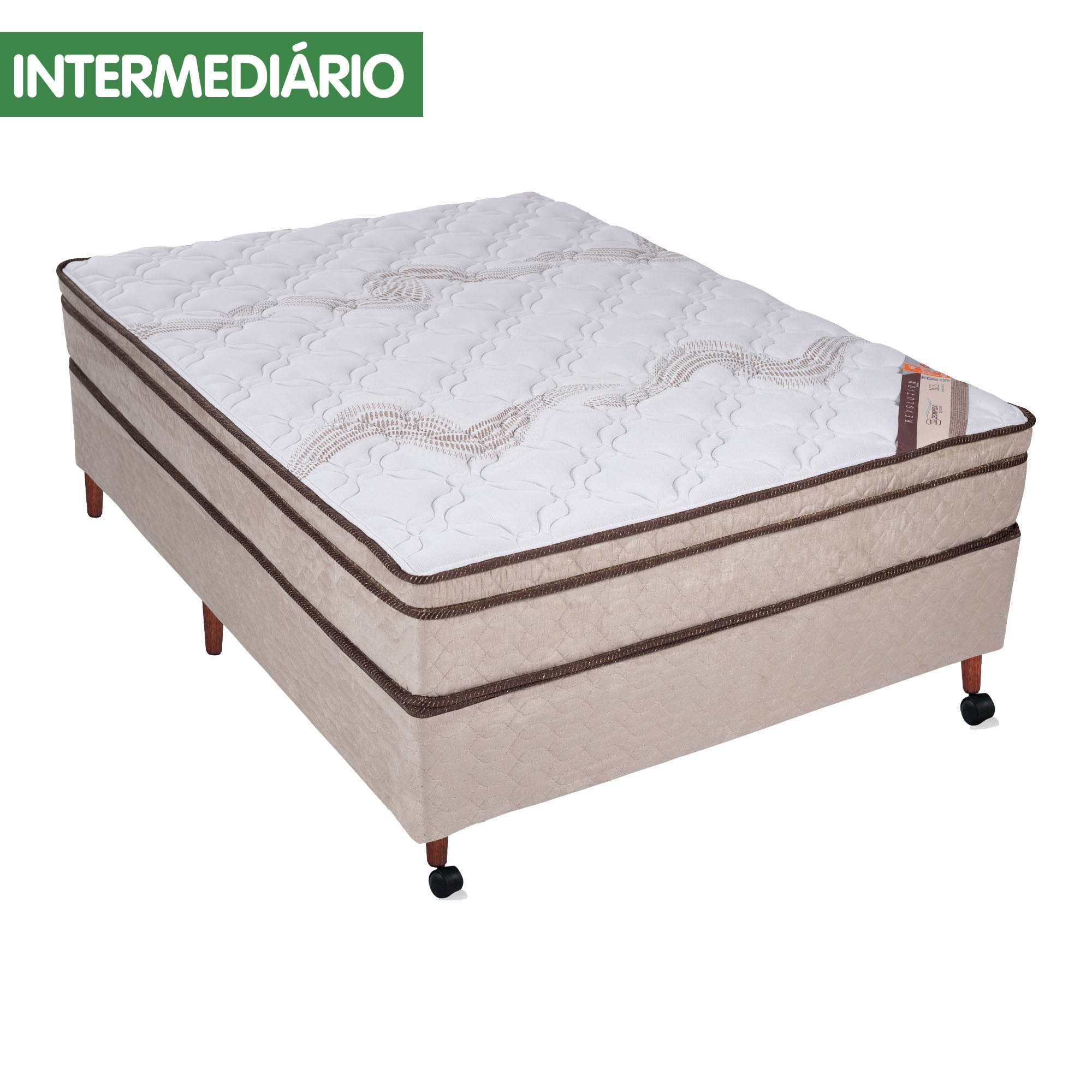 Conjunto Box Castor Revolution Tecnopedic [Queen 158 x 198 cm]