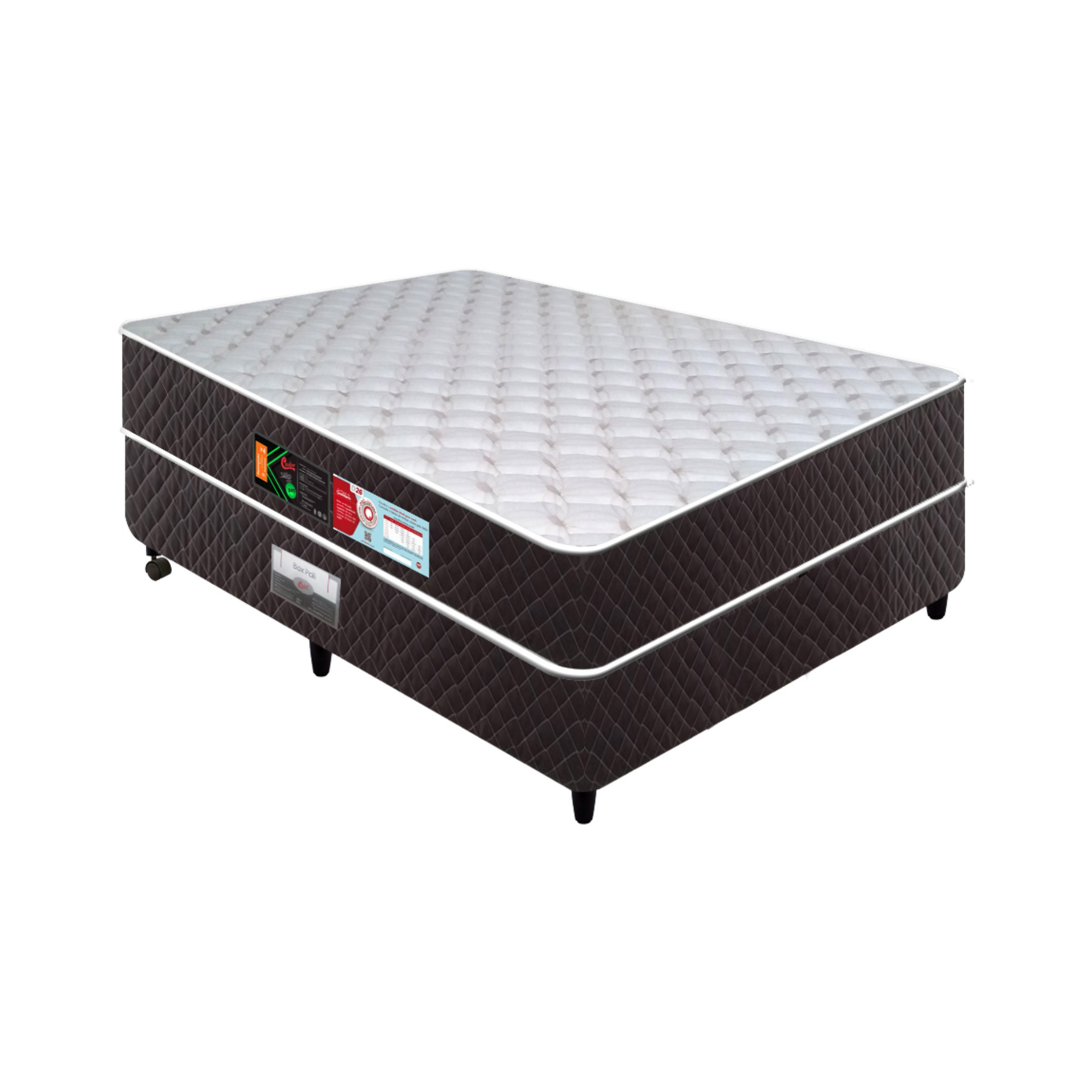 Conjunto Box Castor Sleep Max D28 [Solteiro 088 x 188 cm]