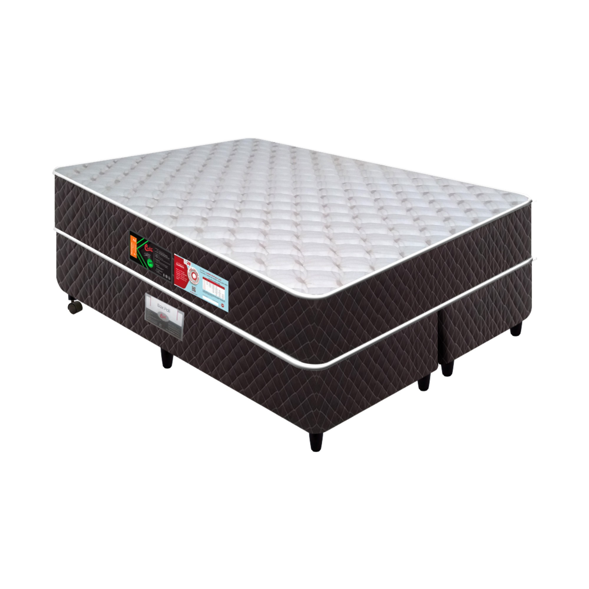 Conjunto Box Castor Sleep Max D45 [Queen 158 x 198 cm]