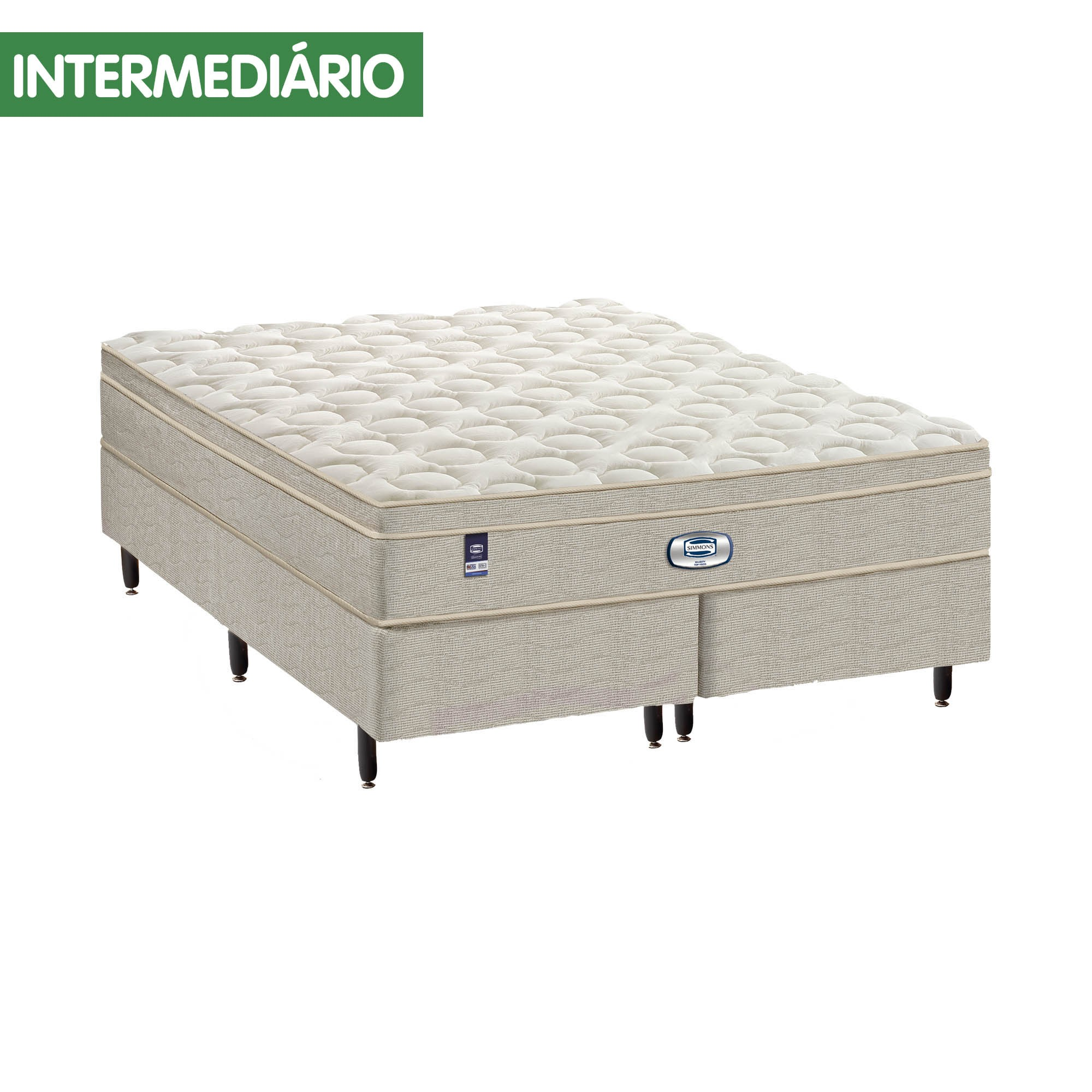 Conjunto Box Simmons Majesty Premium Top Visco [Casal 138 x 188 cm]