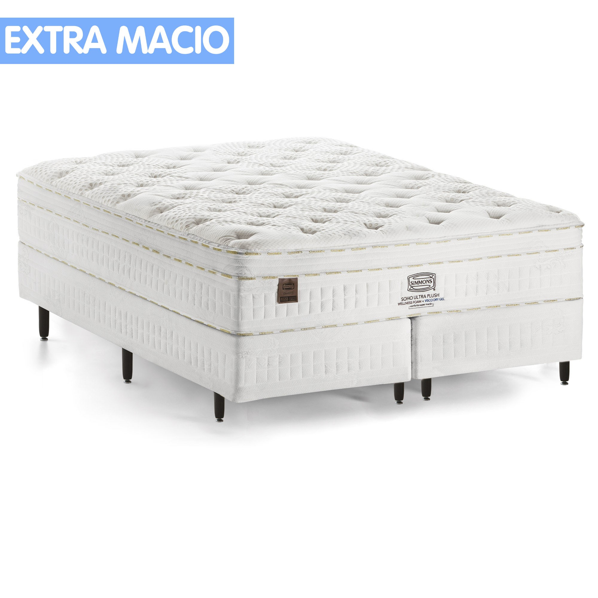 Conjunto Box Simmons Soho Ultra Plush [King 193 x 203 cm]