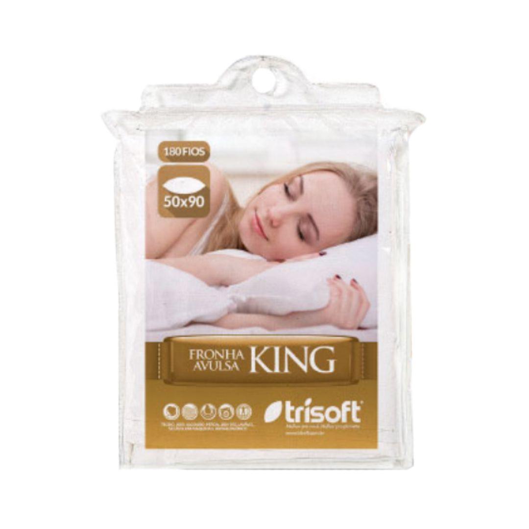 Fronha para Travesseiro Percal King, Trisoft, 100% Algodão, 050 x 090 cm