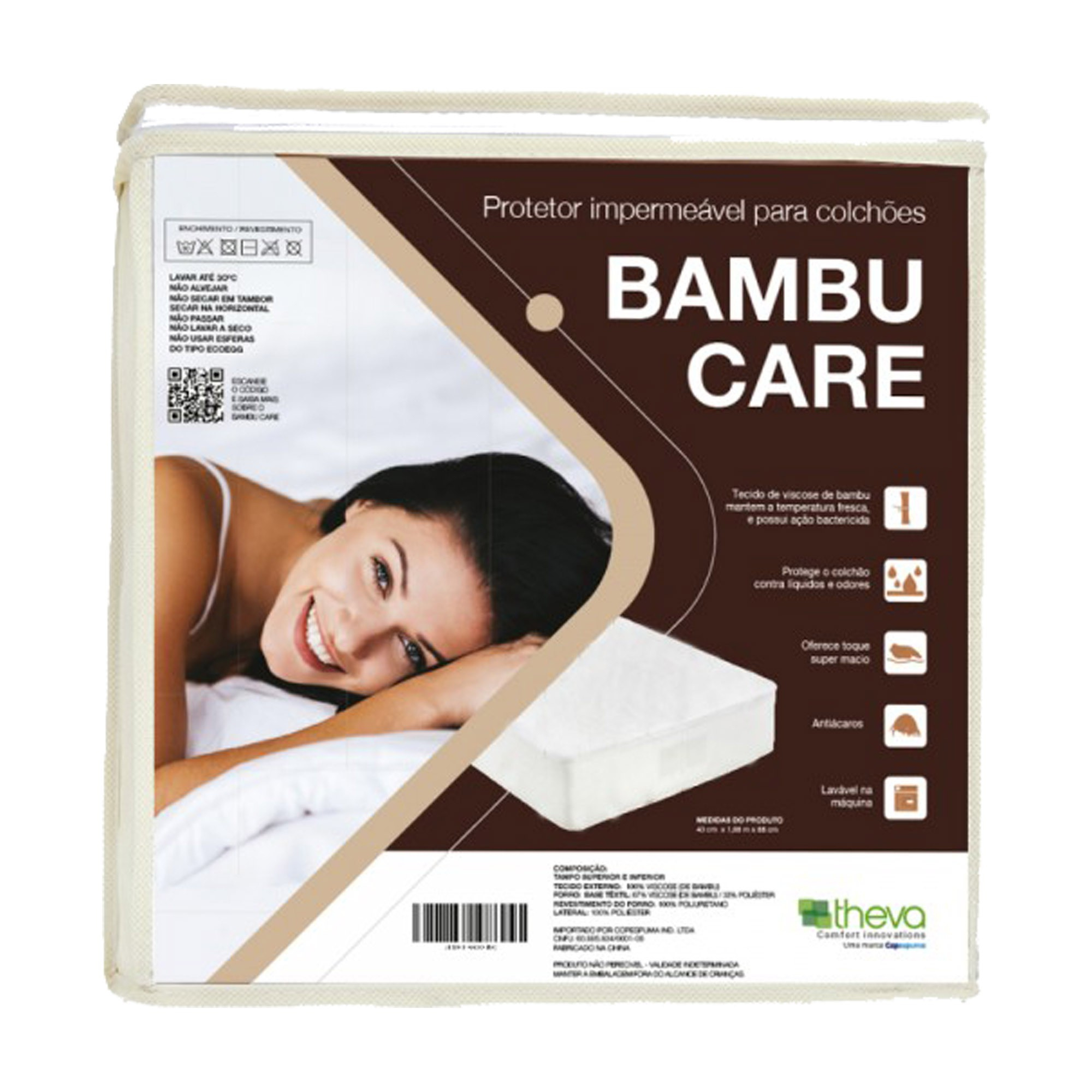 Protetor Impermeável para Colchão Bambu Care [Solteirão 097 x 203 cm]