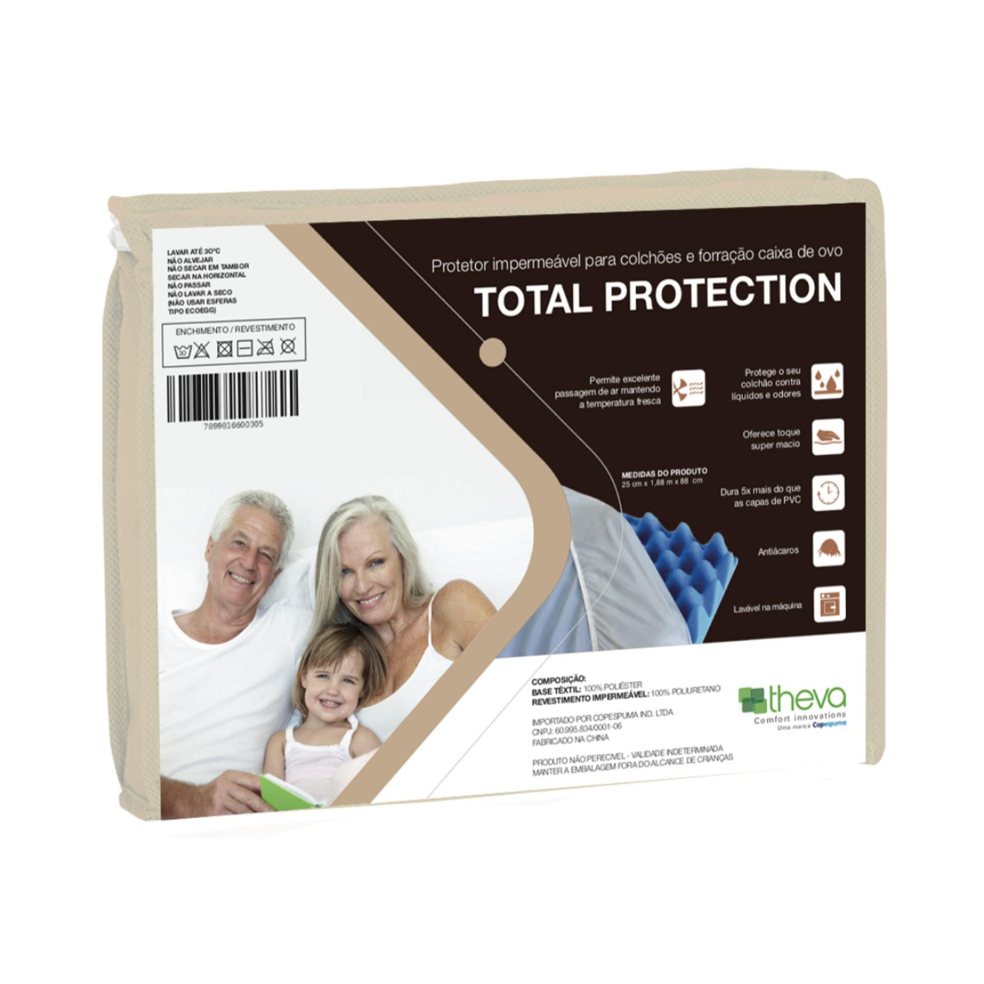 Protetor Impermeável para Colchão Total Protection [Solteiro 088 x 188 cm]