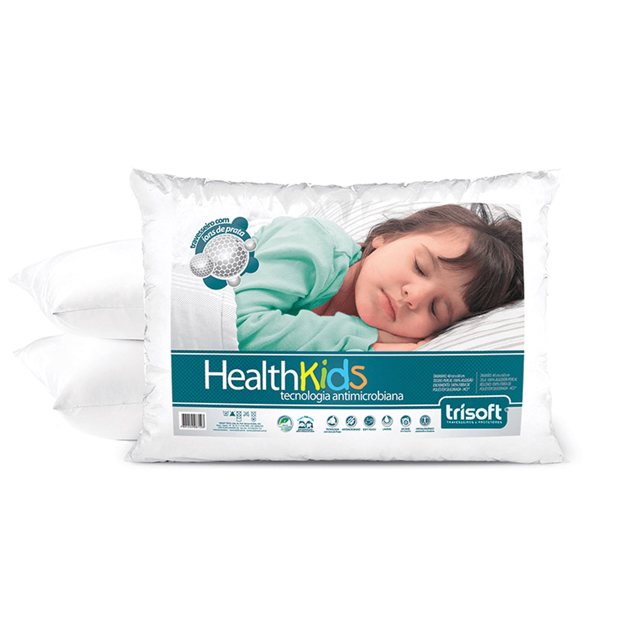 Travesseiro Health Kids 040 x 060 cm