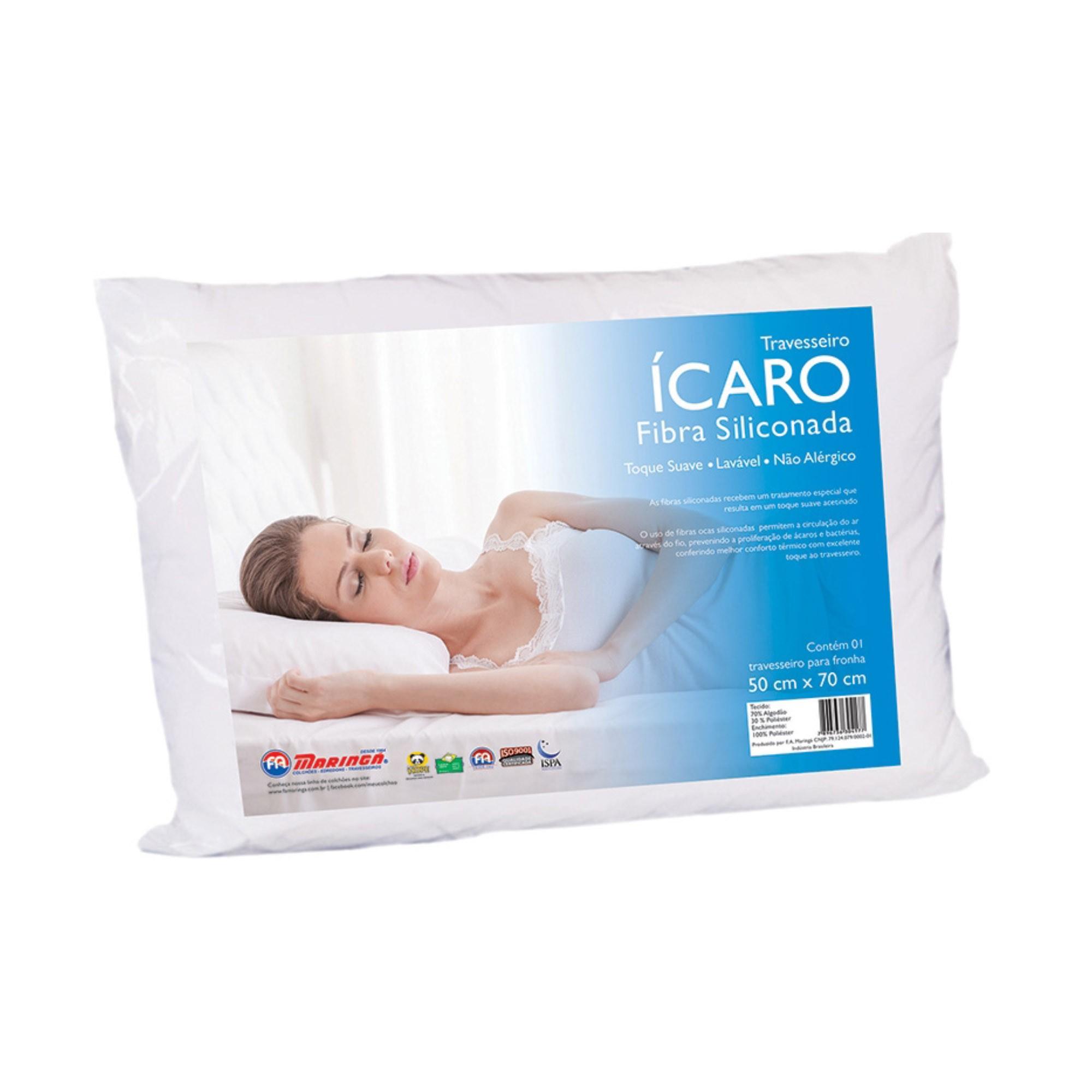Travesseiro Ícaro, F.A. Colchões, Macio, 050 x 070 cm