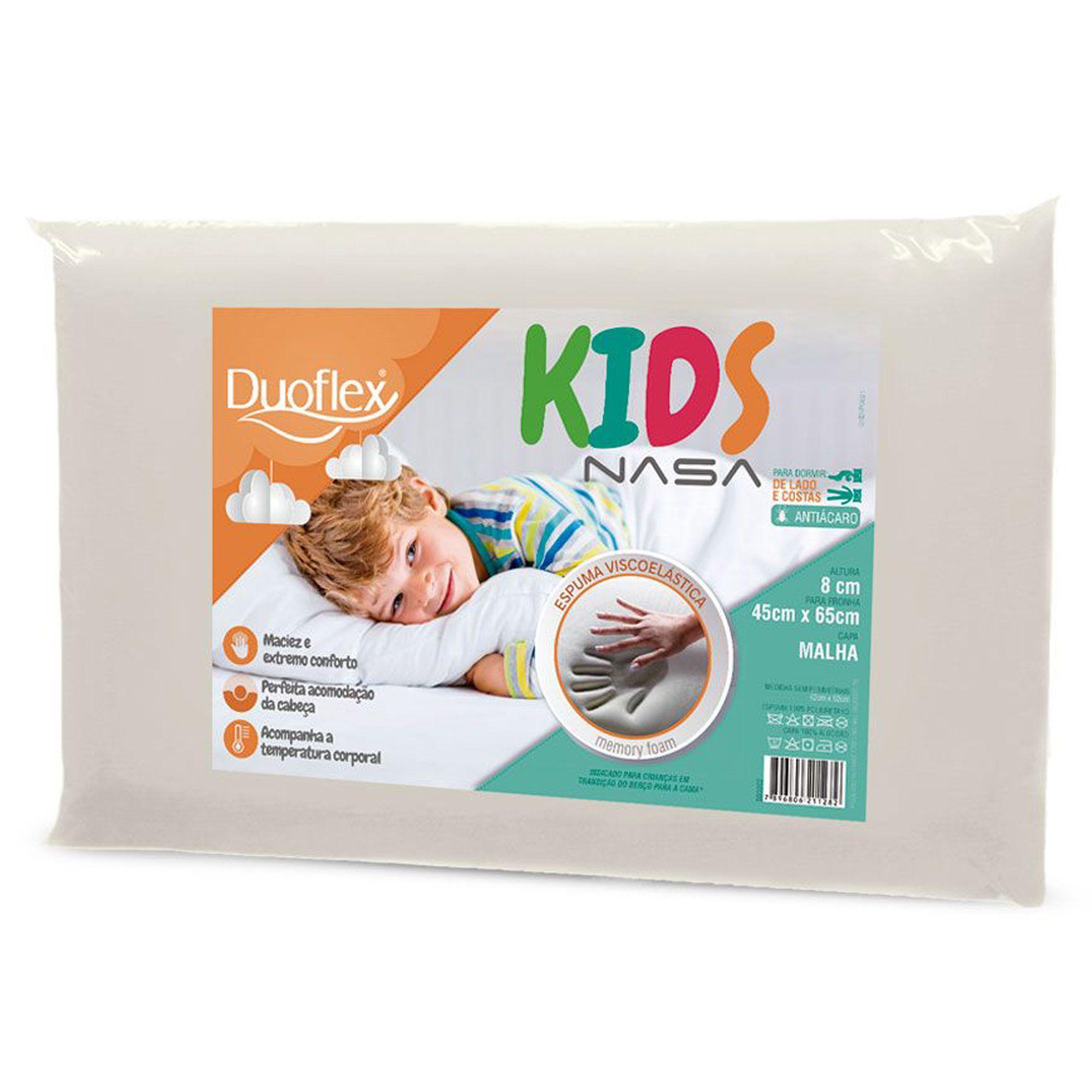 Travesseiro Duoflex Kids Nasa, Macio, 045 x 065 x 008 cm