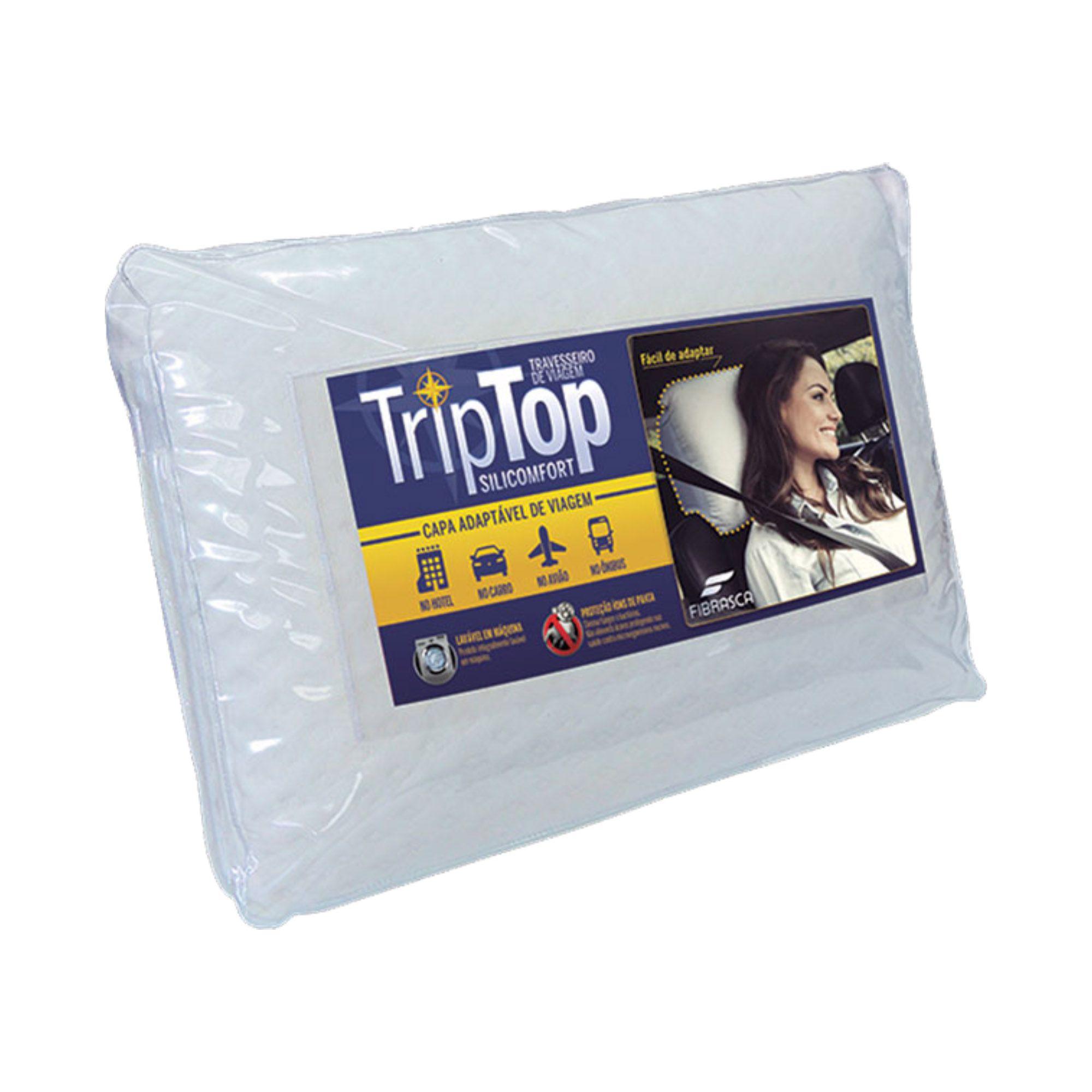 Travesseiro Fibrasca Trip Top, Macio, 050 x 070 cm