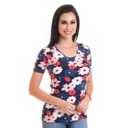 Blusa Básica Estampada Cotton 12432