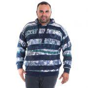 Jaqueta Moletom Bolso Lateral Plus Size Estampado 76831