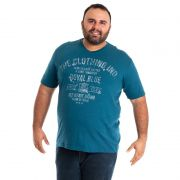 Camiseta Decote V Manga Curta Plus Size 115205