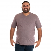 CAMISETA DECOTE V PLUS SIZE 115701