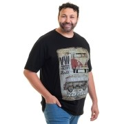 Camiseta Masculina Manga Curta Plus Size 10634