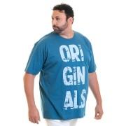Camiseta Masculina Manga Curta Plus Size 10635