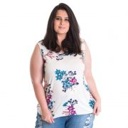 Regata Feminina Plus Size Viscose Estampada 41207
