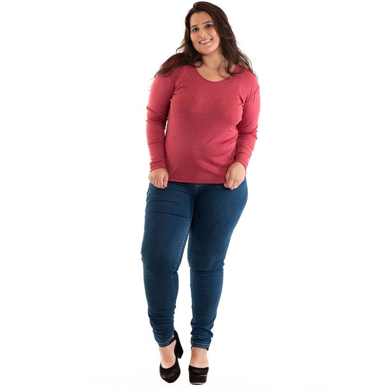 Blusa Básica Plus Size 11706