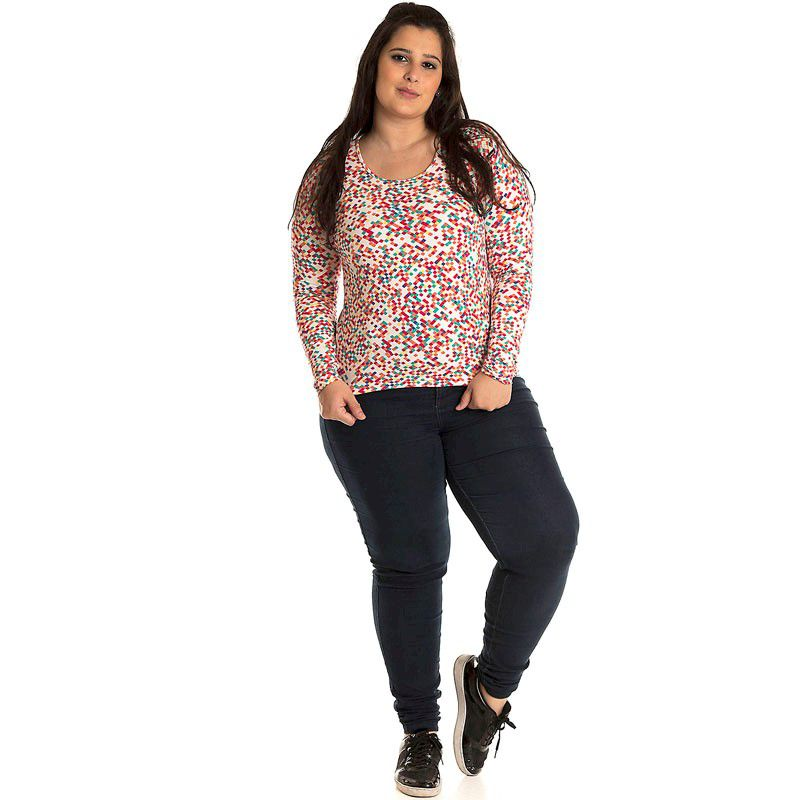 Blusa Básica Viscolight Plus Size 10601