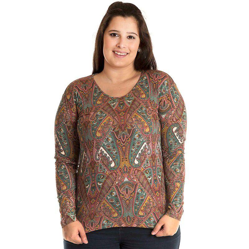 Blusa Estampada Plus Size 12003