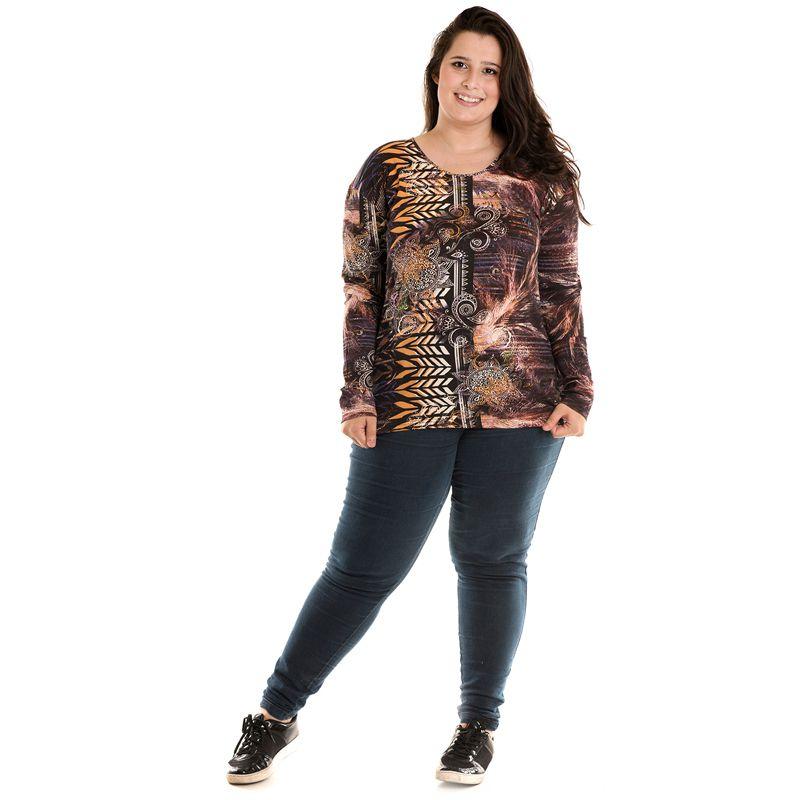 Blusa Estampada Plus Size 12004