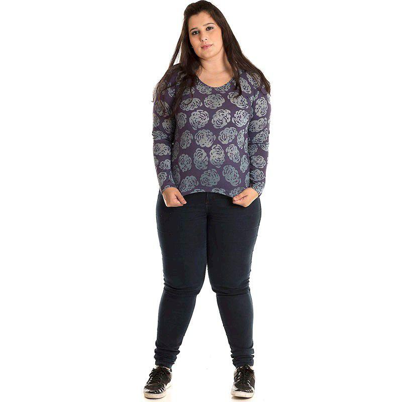 Blusa Malha Devorê Plus Size 10404