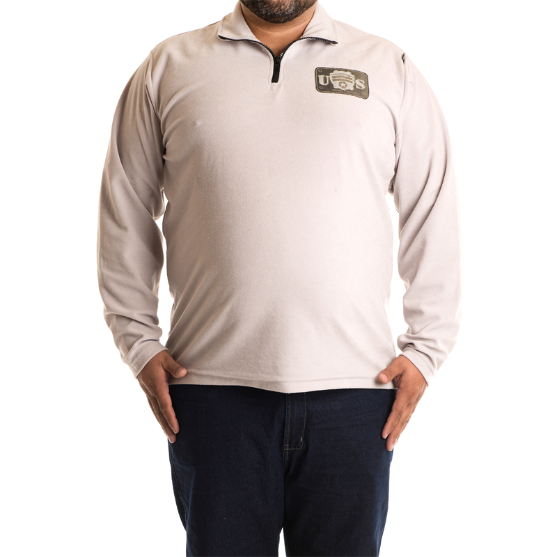 Blusa Masculina Plus Size Gola Alta Fleece 3691
