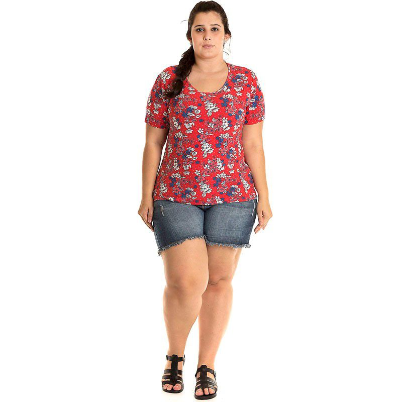 Blusa Viscolycra Plus Size 12515