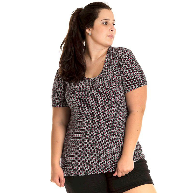 Blusa Viscolycra Plus Size 16603