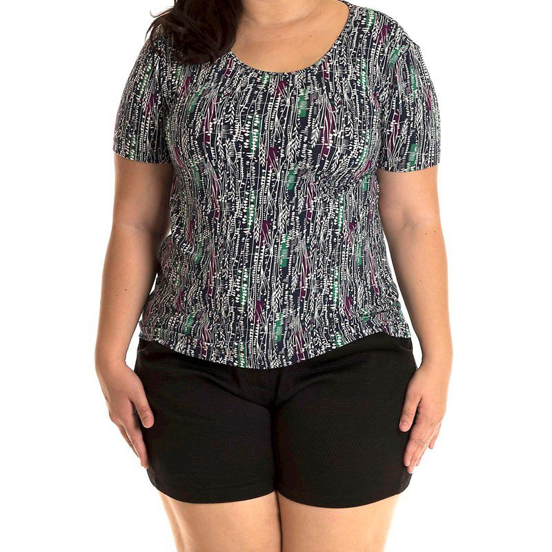 Blusa Viscolycra Plus Size 16604