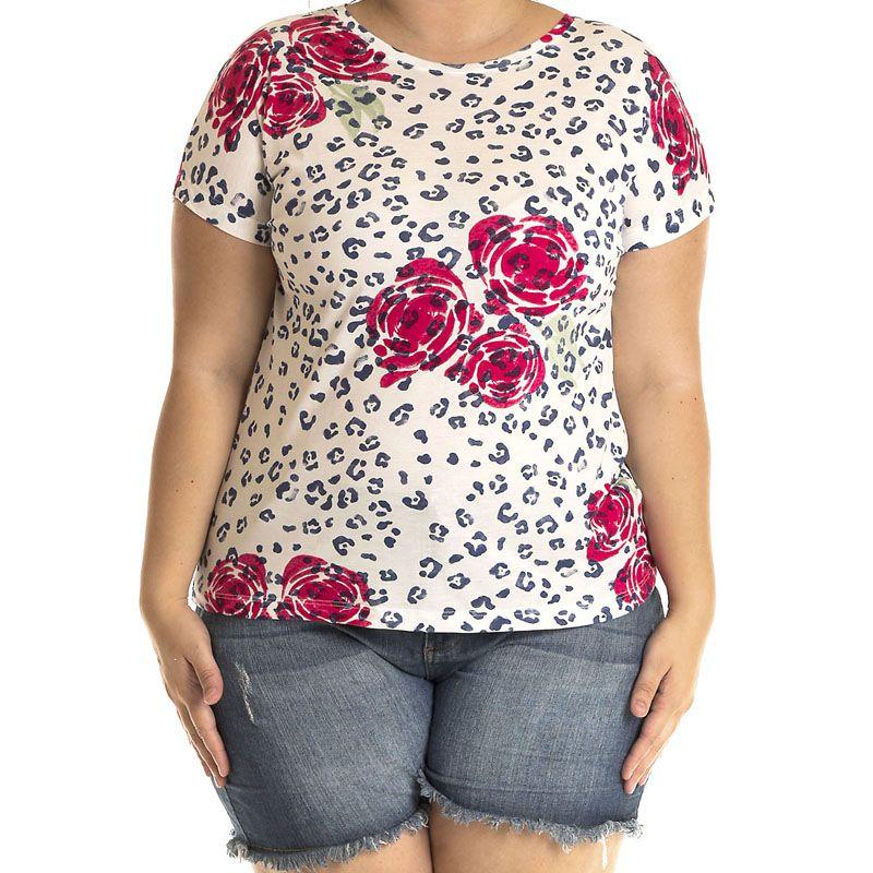 Blusa Viscose Plus Size 12805
