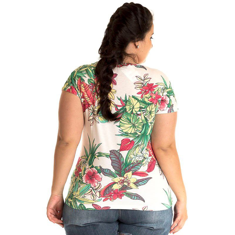 Blusa Viscose Plus Size 12810