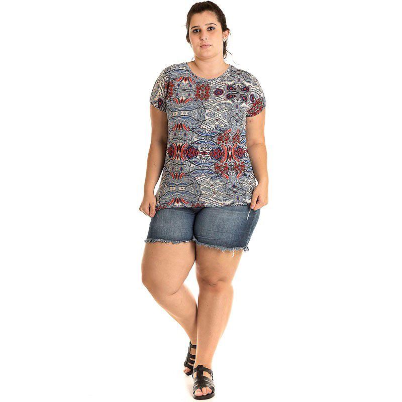 Blusa Viscose Plus Size 12812