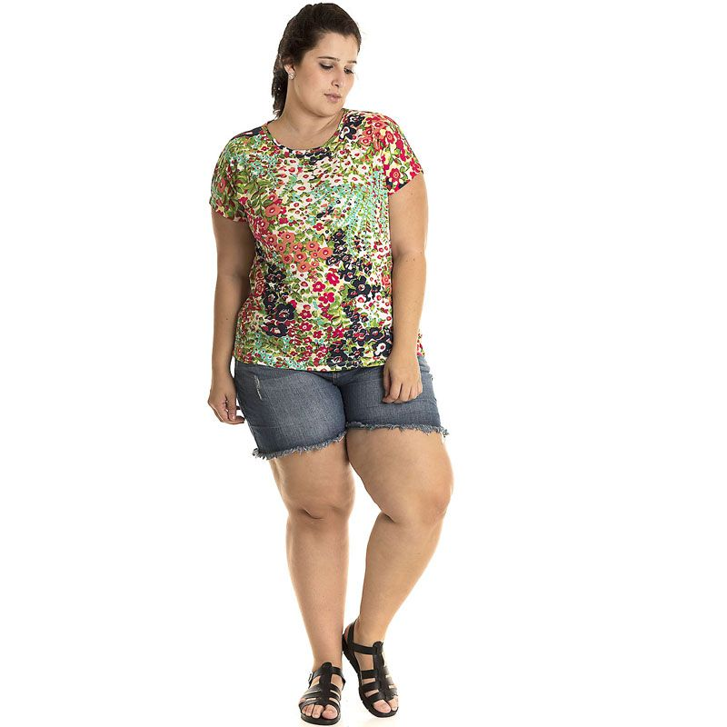 Blusa Viscose Plus Size 12813
