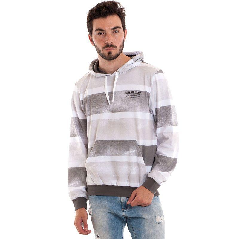 Blusão Moletom Bolso Canguru Plus Size Estampado 1455