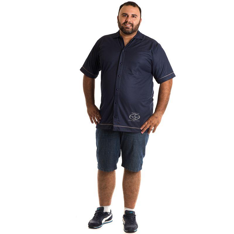 Camisa Manga Curta Plus Size 9601