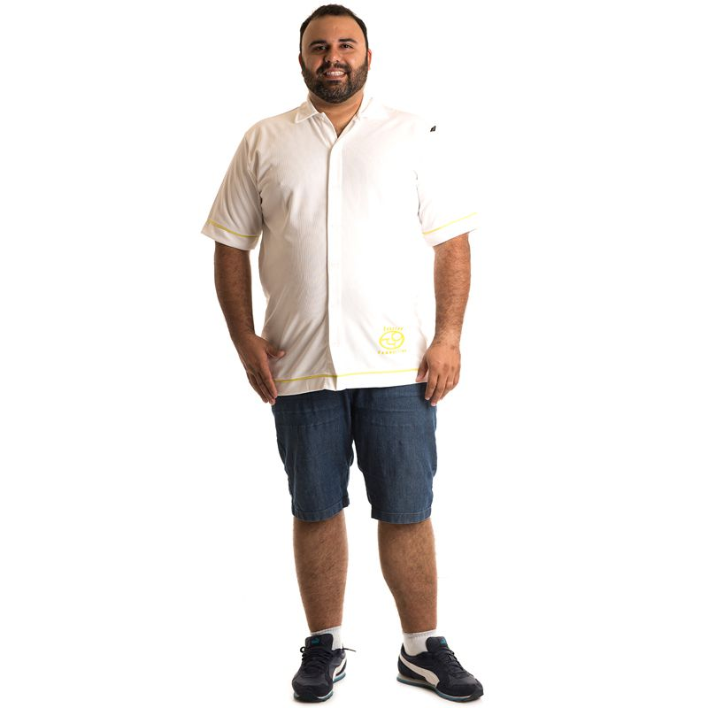 Camisa Manga Curta Plus Size 9602