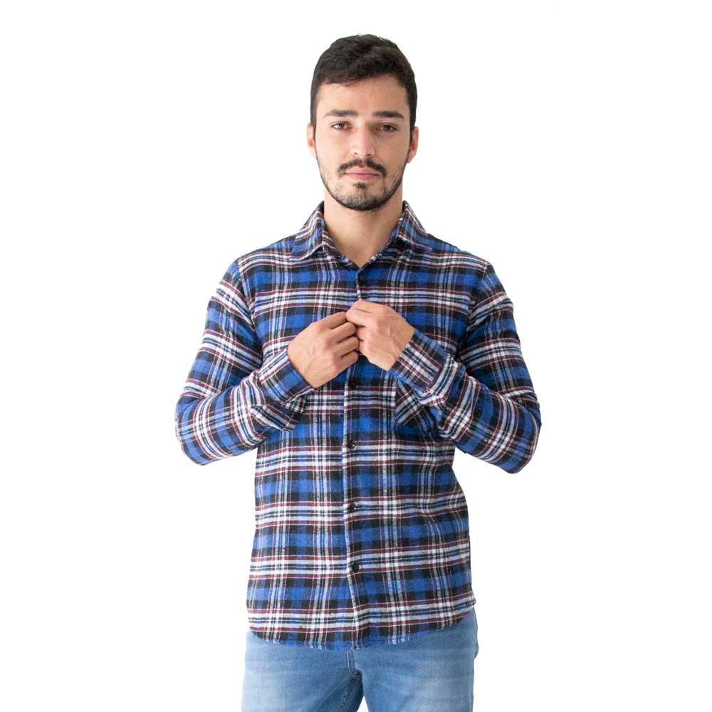 Camisa Masculina Flanela Manga Longa 33517