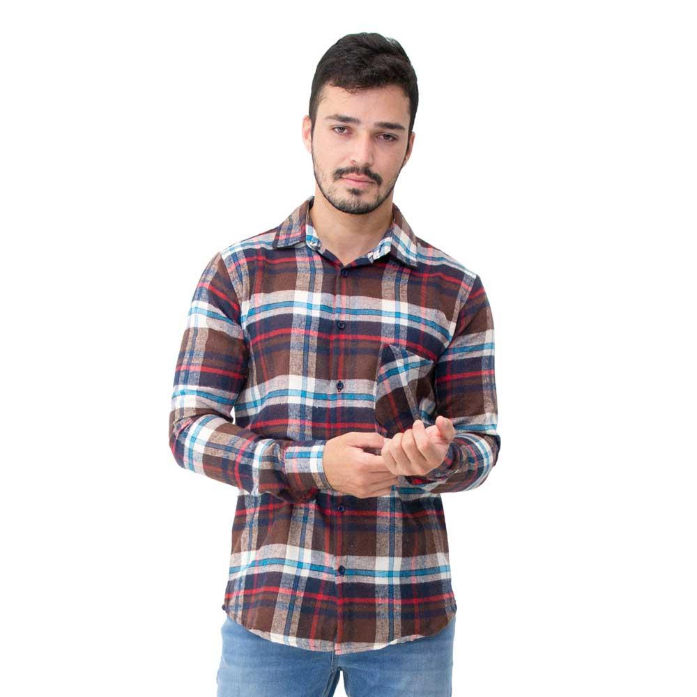 Camisa Masculina Flanela Manga Longa 33518