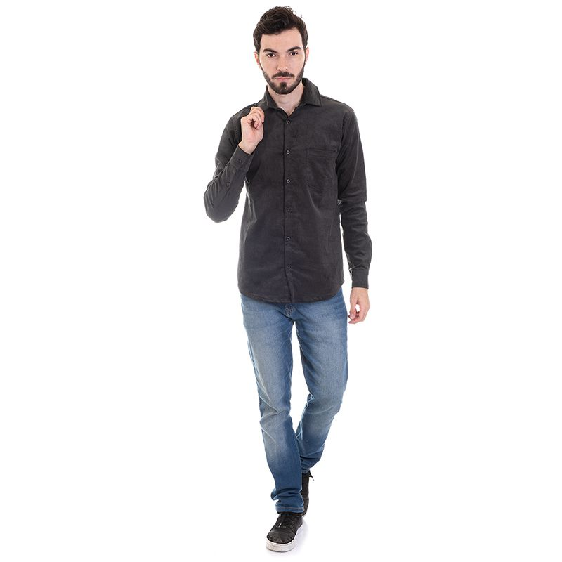 Camisa Masculina Veludo Cotelê 2991