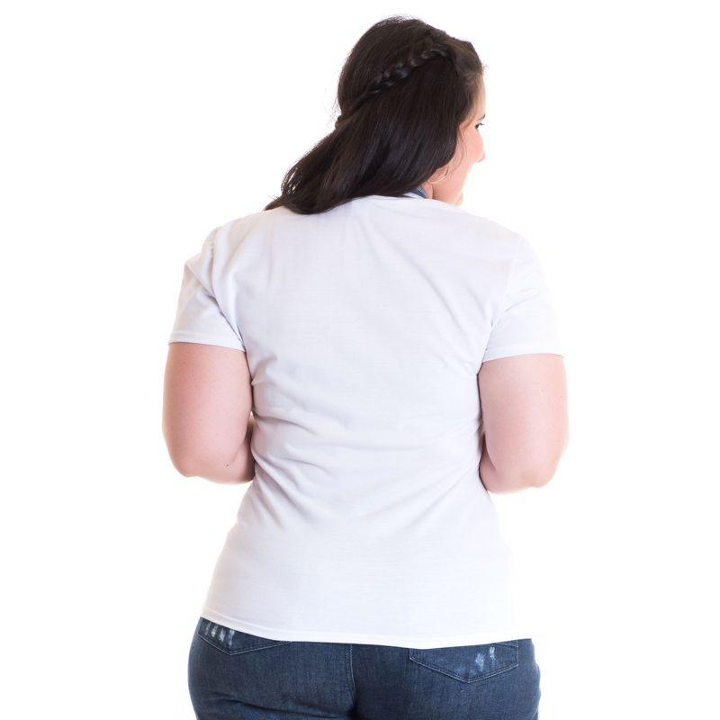 Camisa Polo Feminina Plus Size Piquet 96313