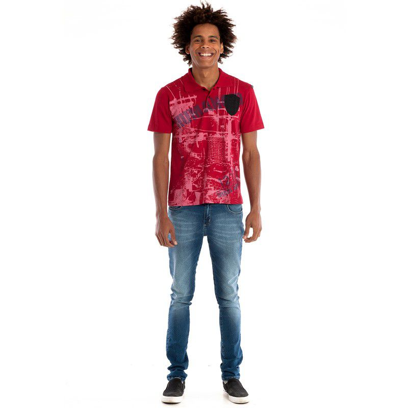 Camisa Polo Konciny Manga Curta 31004