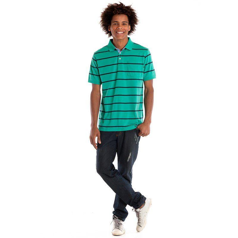 Camisa Polo Manga Curta 116505