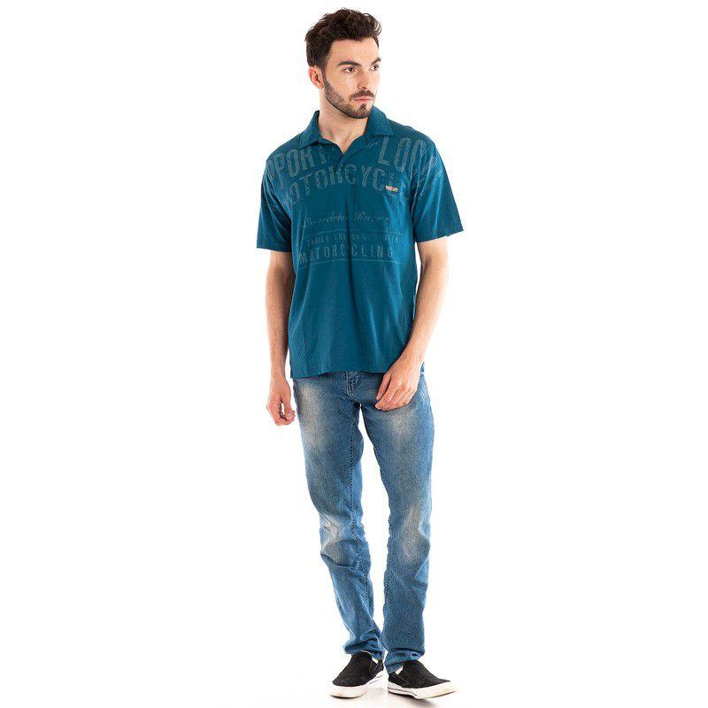 Camisa Polo Manga Curta 32809