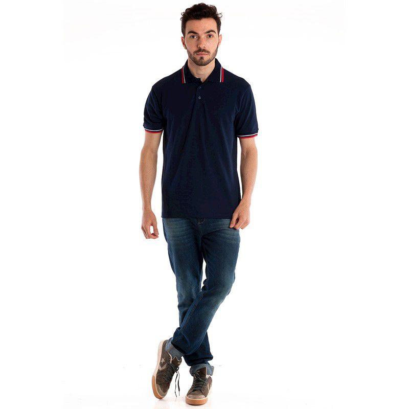 Camisa Polo Manga Curta 34807