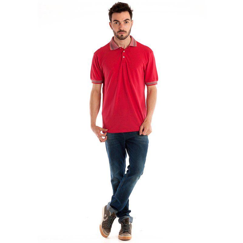 Camisa Polo Manga Curta 34809