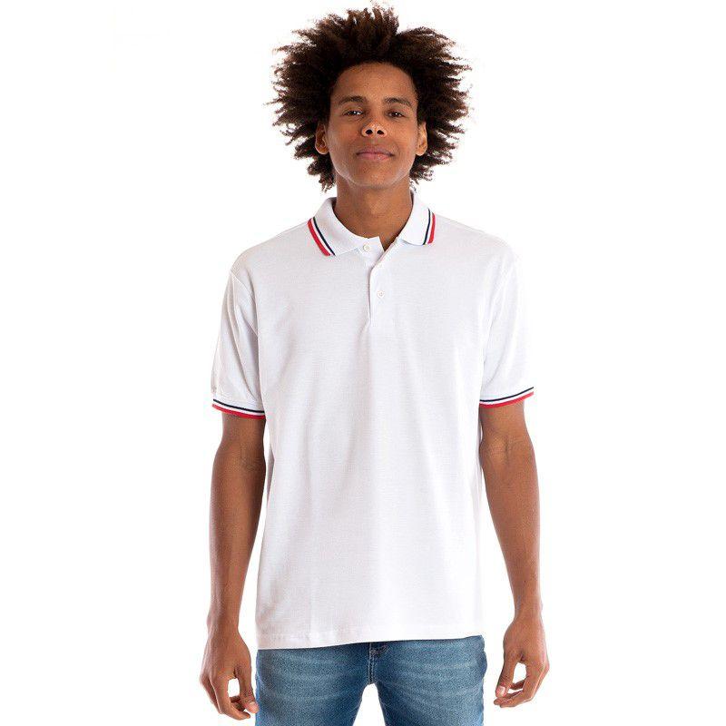 Camisa Polo Manga Curta 34810