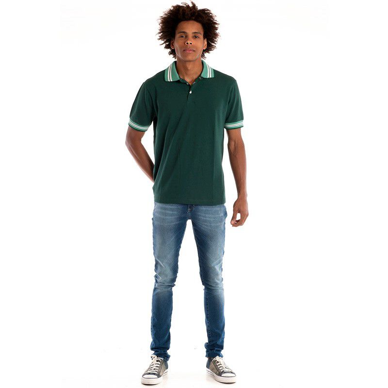 Camisa Polo Manga Curta 34811